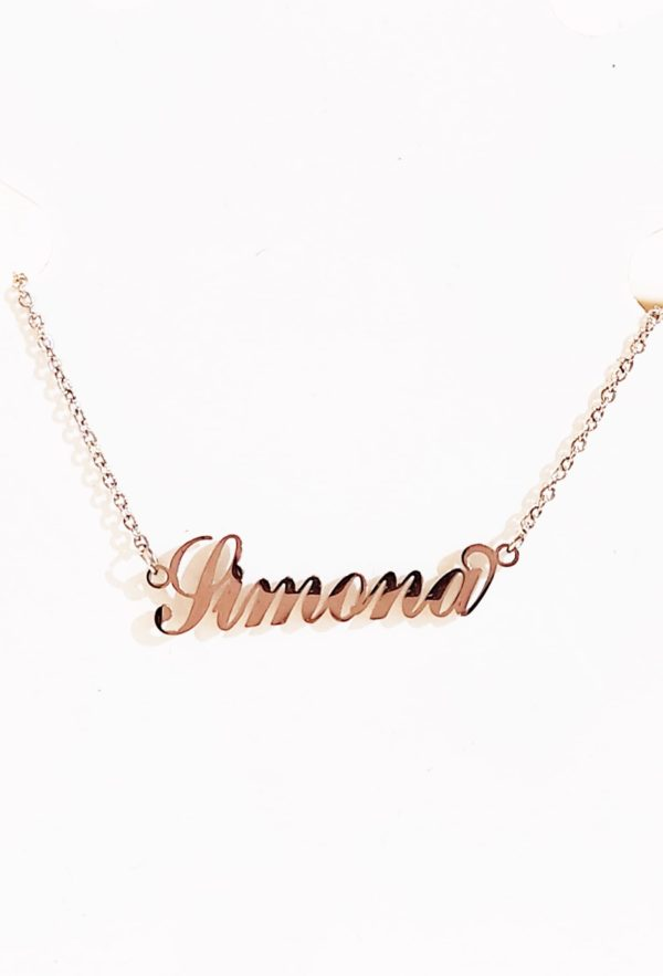 collana in argento con nome personalizzata