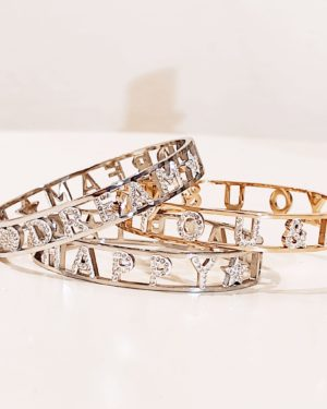 bracciale rigido con brillantini emotion